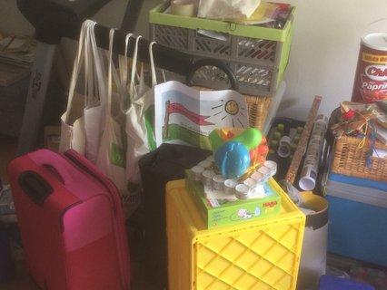 Gepackte Materialien von Susanne Göbel für's Sommercamp in Kassel
