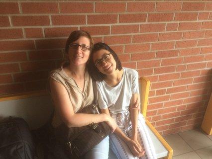 Franziska Vu mit ihrer Tochter Amira