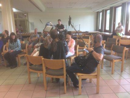 Bild vom Filmdreh des Bayerischen Rundfunks beim Sommercamp