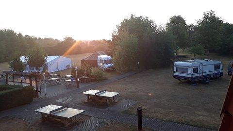 Blick auf den Campingplatz des Jugendgästehauses Duderstadt