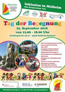 Plakat vom Fest der Begegnung am 22.9.2018 in Mühlheim