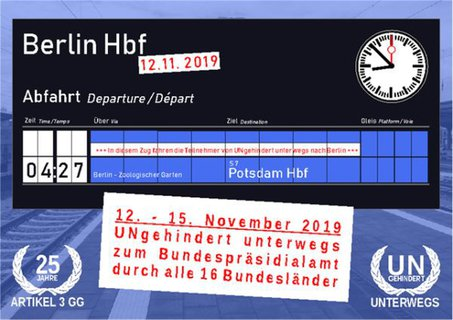Anzeigentafel Berlin Hbf Abfahrt 4:27 S Bahn nach Potsdam am 12. November