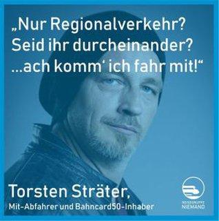Schild mit dem in der Nachricht dargestellten Text von Torsten Sträter