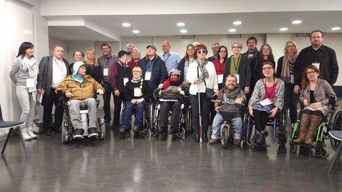 Gruppenbild der InklusionsbotschafterInnen bei den Inklusionstagen in Berlin