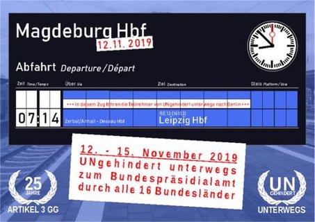 Anzeigentafel Magdeburg 7:14 Uhr geht's weiter nach Leipzig
