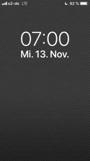 Handy-Anzeige 7:00 Uhr