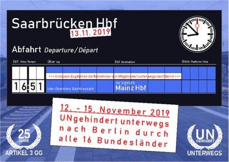 Anzeigentafel Saarbrücken Abfahrt 16:51 Uhr nach Mainz