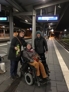 Das Begrüßungskommittee in Bad Kreuznach