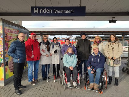 Gruppe in Minden zum Empfang der Reisehruppe Niemand