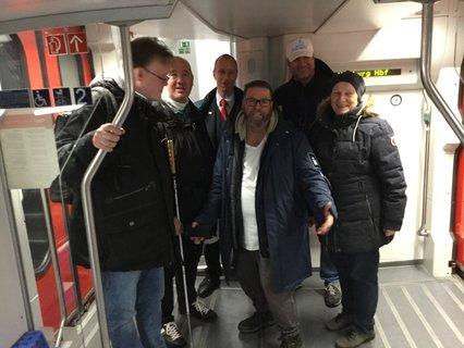 Abschlussbild für den Tag im Zug nach Schwerin mit Schaffnern