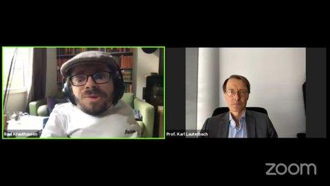 Raul Krauthausen im Gespräch mit Prof. Karl Lauterbach von der SPD auf Facebook