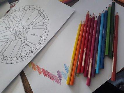 Mandala mit Stiften von Susanne Göbel