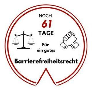 Logo: Noch 61 Tage für ein gutes Barrierefeiheitsrecht