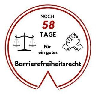Logo: Noch 58 Tage für ein gutes Barrierefreiheitsrecht