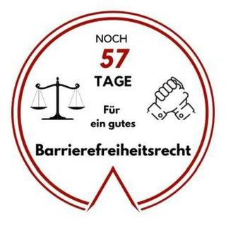 Logo: Noch 57 Tage für ein gutes Barrierefreiheitsrecht
