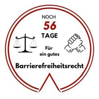Logo: Noch 56 Tage für ein gutes Barrierefreiheitsrecht