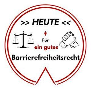 Logo: Heute für ein gutes Barrierefreiheitsrecht