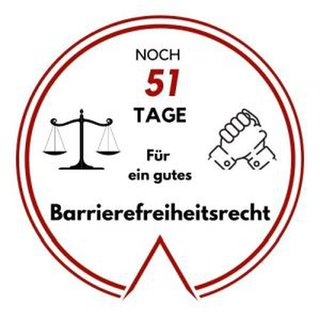 Logo: Noch 51 Tage für ein gutes Barrierefreiheitsrecht